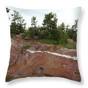 Quartz Vein Throw Pillow