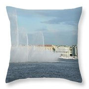 Quay In Peterburg Throw Pillow