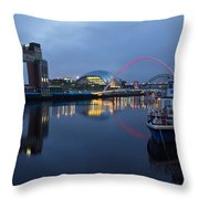 Quayside Landmarks Throw Pillow