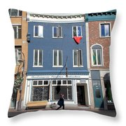 Quebec City Street View Throw Pillow