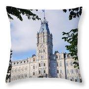 Quebec Parliament Buildings Quebec Throw Pillow