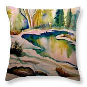 Quebec Winter Landscape Throw Pillow