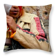 Quechuan Performer   Cuenca Ecuador Throw Pillow