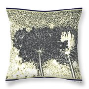 Queen Ann Lace Illustrated Throw Pillow