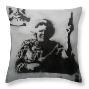 queen Beatrix and Bruce Lee Throw Pillow