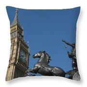 Queen Boadicea Throw Pillow