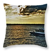 Queen City Ferry Throw Pillow