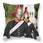 Queen Lifeguards London Throw Pillow
