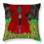 Queen Of The Huns Throw Pillow
