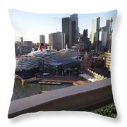 Queen Victoria Berthed In Sydney Throw Pillow