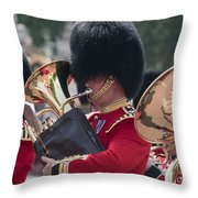 Queens Guards Band Throw Pillow