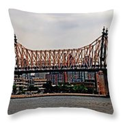 Queensboro Bridge Throw Pillow