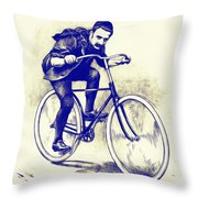 Quest For Speed Throw Pillow