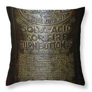 Quick Aid Extinguisher Throw Pillow