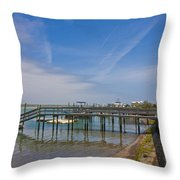 Quiet At The Sound Throw Pillow
