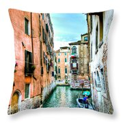 Quiet Canal Throw Pillow