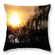 Quiet Country Sunrise Throw Pillow