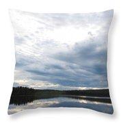 Quiet Lake Throw Pillow