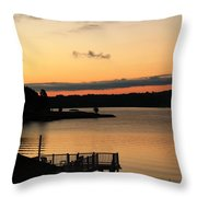 Quiet Mornings Throw Pillow
