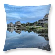 Quiet On The Sound Throw Pillow