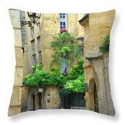 Quiet Street In Sarlat Throw Pillow