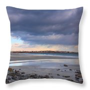 Quiet Winter Day At York Beach Throw Pillow