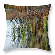 Quietly Slipping Away Throw Pillow