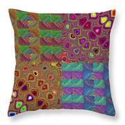 Quilted Fractals Throw Pillow