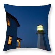 Quirpon Island Lighthouse And Inn Throw Pillow