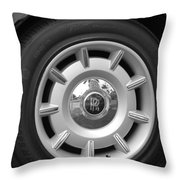 R R Wheel Throw Pillow