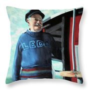 R. Sylvester Founder Maritime Museum Throw Pillow