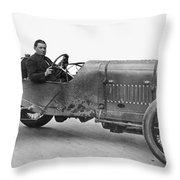 Race Car, 1914 Throw Pillow