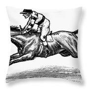 Race Horse, 1900 Throw Pillow