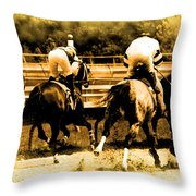 Race To The Finish Line Throw Pillow