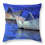 Race Up Stream Throw Pillow