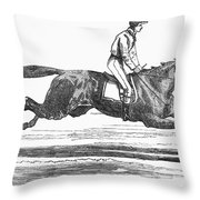 Racehorse, 1856 Throw Pillow