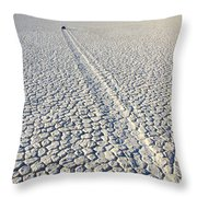 Racetrack Death Valley Trail Of Mystery Throw Pillow