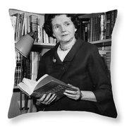 Rachel Louise Carson Throw Pillow by Granger