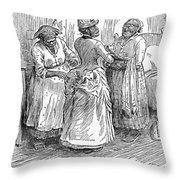 Racial Caricature, 1886 Throw Pillow