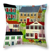 Racing To Windmill Point Throw Pillow