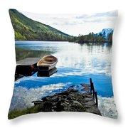 Radiant Blue Throw Pillow