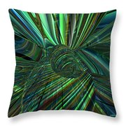 Radiant Digital Floral Fx  Throw Pillow