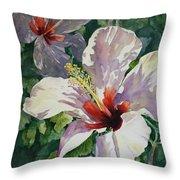 Radiant Light - Hibiscus Throw Pillow