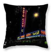 Radio City Music Hall - Greeting Card Throw Pillow