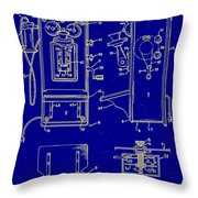 Radio Phone Patent Throw Pillow