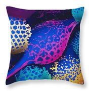 Radiolarians Throw Pillow by Omikron