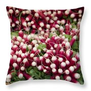 Radishes In A Basket Throw Pillow