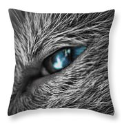 Raging Blue Throw Pillow