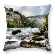 Raging Niagara          Throw Pillow