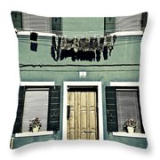 rags in Venice Throw Pillow